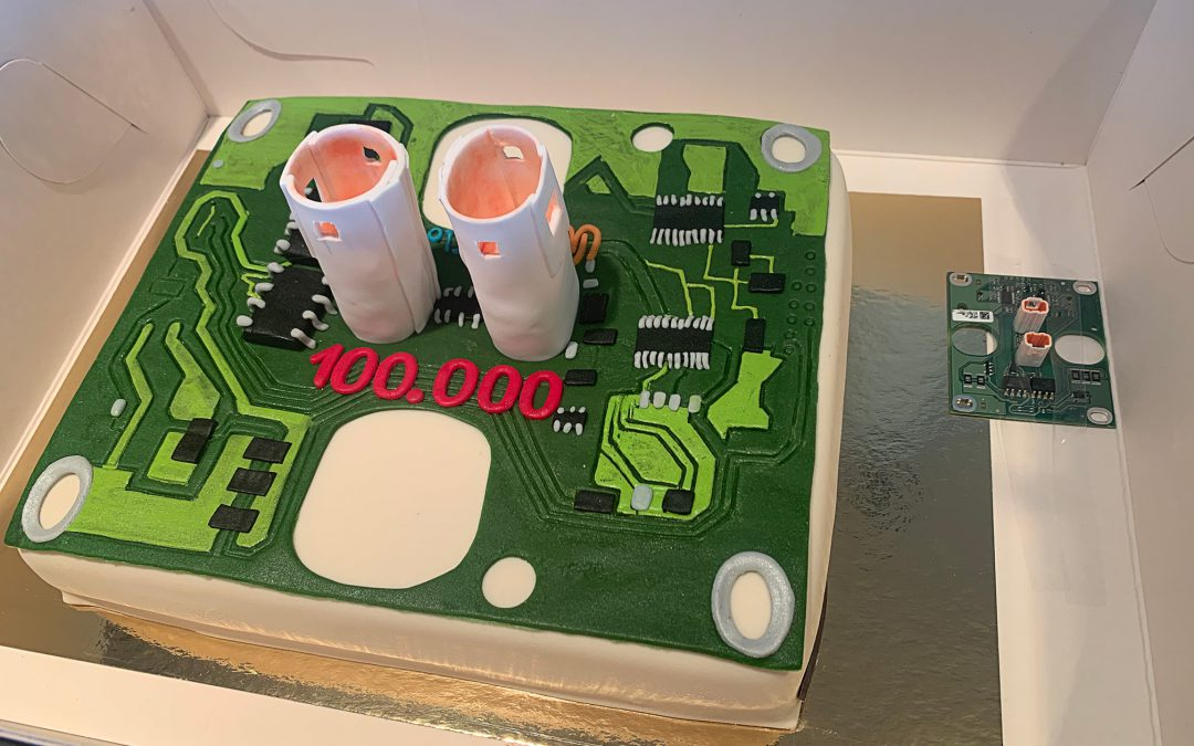 WireFlow and customer celebrates 100 000 PCB-tests